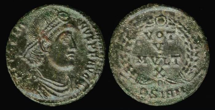 Ancient Coins - Jovian Ae3 - VOT V MVLT X - Sirmium Mint