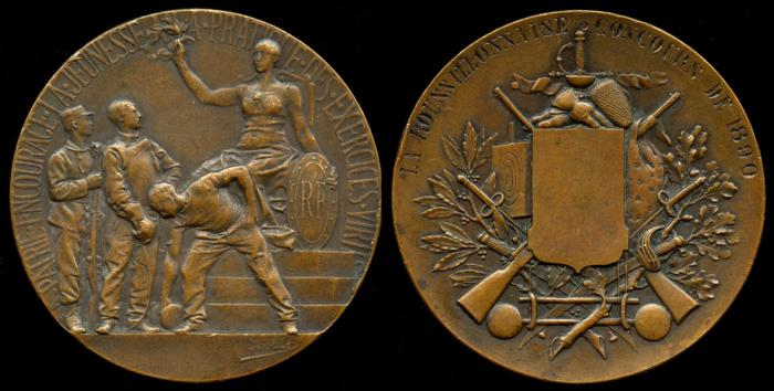 World Coins - 1890 France – The Roussillonnaise Shooting Contest by Adolphe O. Rivet