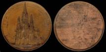 World Coins - 1854 Belgium – Notre Dame Church of Laken Building Contribution Medal