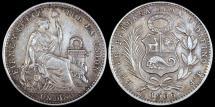 World Coins - 1906 JF Peru 1 Dinero - Republic Coinage - AU