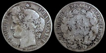World Coins - 1894 A France 50 Centimes F