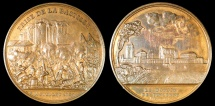 World Coins - 1844 France - The Storming of the Bastille in 1789 by Émile Rogat and Jean-Bertrand Andrieu