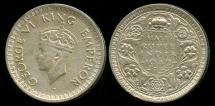 World Coins - 1942 B India (British) 1/2 Rupee XF