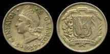 World Coins - 1939 Dominican Republic 5 Centavos XF