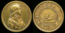 World Coins - 1638  France - Birth of the Dauphin by Michel Molart