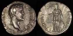 Ancient Coins - Antoninus Pius Denarius - TRIB POT COS - Rome Mint