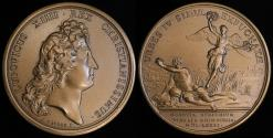 World Coins - 1672 France - Louis XIIII - Taking of the Four Cities on the Rhine by by Jean Mauger and Jean Le Blanc