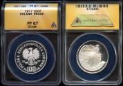 World Coins - 1977 Poland 100 Zlotych (Silver) ANACS PR67 Deep Cameo