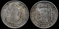 World Coins - 1798 MoFM Mexico (Mexico City Mint) 8 Reales of Charles IIII VF