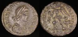 Ancient Coins - Theodosius I Ae2 - SALVS REIPVBLICAE - Rome Mint