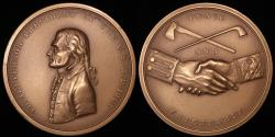 """Us Coins - 1801 Thomas Jefferson """"Indian Peace Medal"""" - Third President of the United States (March 4, 1801 to March 3, 1809) - Original US Mint Medal by John Reich"""