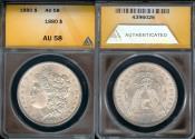 Us Coins - 1880 Morgan Dollar ANACS AU58