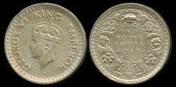World Coins - 1942 B India (British) 1/2 Rupee XF