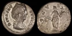 Ancient Coins - Faustina I Denarius - AVGVSTA - Rome Mint