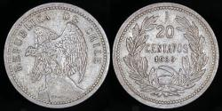 World Coins - 1939 Chile 20 Centavos XF