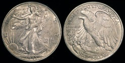 Us Coins - 1943 P Walking Liberty Half Dollar AU