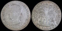 World Coins - 1860 PTS-FJ Bolivia 1 Sol - Overstruck Date 1860/1850 - AU Silver