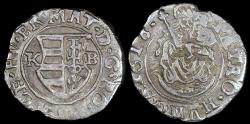 World Coins - 1616 KB Hungary 1 Denar - Mathias II - AU Silver
