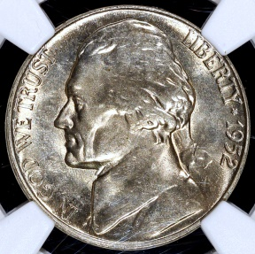 US Coins - 1952 S Jefferson Nickel NGC MS65