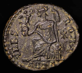 Ancient Coins - Valentinian II Ae3 - VRBS ROMA - Antioch Mint