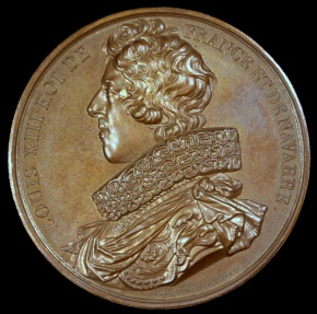 World Coins - 1840 France - Louis XIII, of the House of Bourbon, King of France (1610 - 1643) by Baron de Puymaurin and Armand-Auguste Caqué for the
