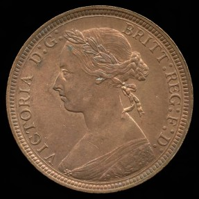 World Coins - 1891 Great Britain 1/2 Penny BU