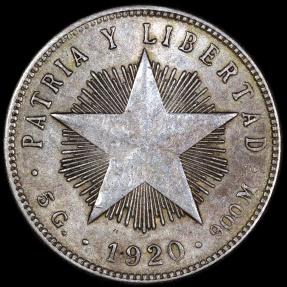 World Coins - 1920 Cuba 20 Centavos -