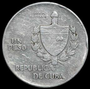 World Coins - 1935  Cuba 1 Peso - ABC Peso - XF Silver