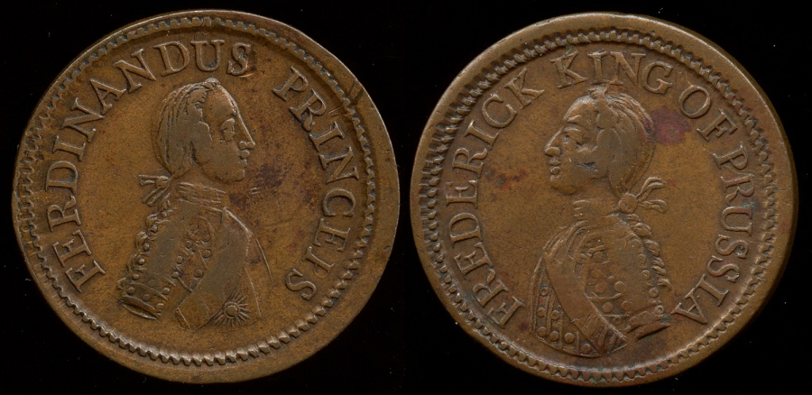 World Coins - 1758  Germany - Frederick King of Prussia Medal