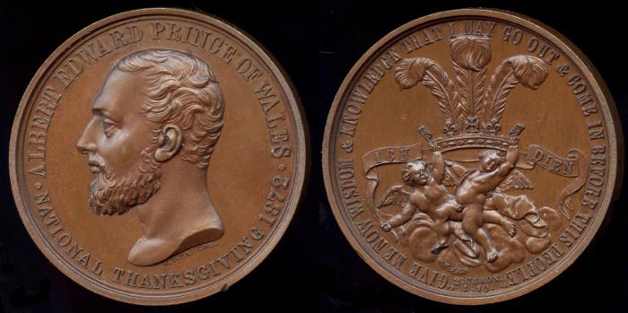 World Coins - 1872  Great Britain - Prince of Wales, National Thanksgiving 1872 by W. J. Taylor