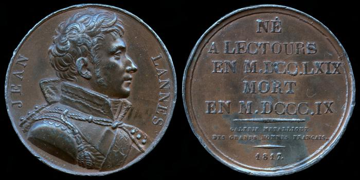 World Coins - 1817 France – Jean Lannes, 1st Duc de Montebello, a Marshal and one of Napoleon's generals by Raymond Gayrard