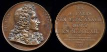 World Coins - 1823  France - Nicolas Catinat (French military commander and Marshal of France under Louis XIV) by Joseph Francois Domard
