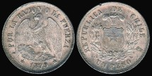 World Coins - 1879 Chile 1 Peso UNC