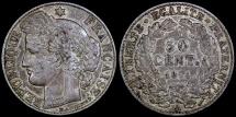 World Coins - 1894 A France 50 Centimes XF
