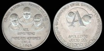 Us Coins - 1969 Apollo X Commemorative Medal (Mexico) Silver