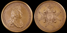 World Coins - 1693 France - Louis XIV – Creation of the Military Order of St. Louis by Jean Mauger and Hupiere
