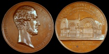 World Coins - 1843 France - Inaguration of the Royal Chapel Saint-Ferdinand, Mausoleum consecrated for the duc D'Orleans, Ferdinand Philippe, by Alfred Borrel