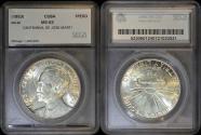 World Coins - 1953 Cuba 1 Peso - Centennial of Jose Marti – Silver Commemorative - SEGS MS62