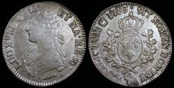 World Coins - 1783 (p) France 1 Ecu - Louis XVI - Pau Mint - AU