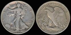 Us Coins - 1936 Walking Liberty Half Dollar VG