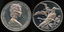 World Coins - 1974 FM British Virgin Islands 1 Dollar - Elizabeth II - Cameo Proof