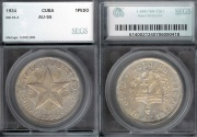 "World Coins - 1934 Cuba 1 Peso - ""Star Peso"" SEGS AU55"