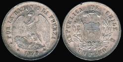 World Coins - 1879 Chile 1 Peso UNC