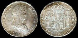 World Coins - 1822 PJ-PTS Bolivia 8 Reales UNC