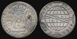 World Coins - 1813 R Brazil 960 Reis - Joao VI - AU