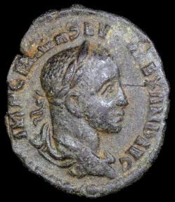 Ancient Coins - Severus Alexander Denarius - IOVI VLTORI - Rome Mint