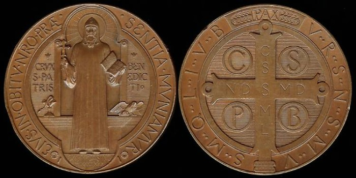 World Coins - 1880 France – Medal or Cross of Saint Benedict