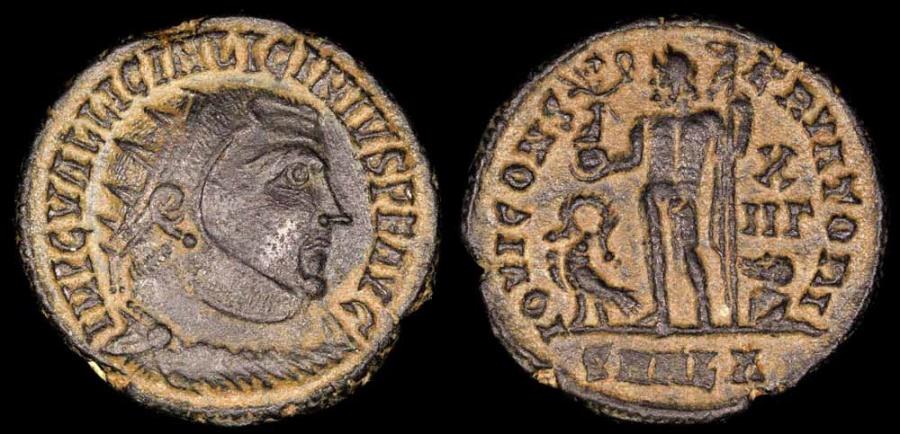 Ancient Coins - Licinius I Follis - IOVI CONSERVATORI - Alexandria Mint