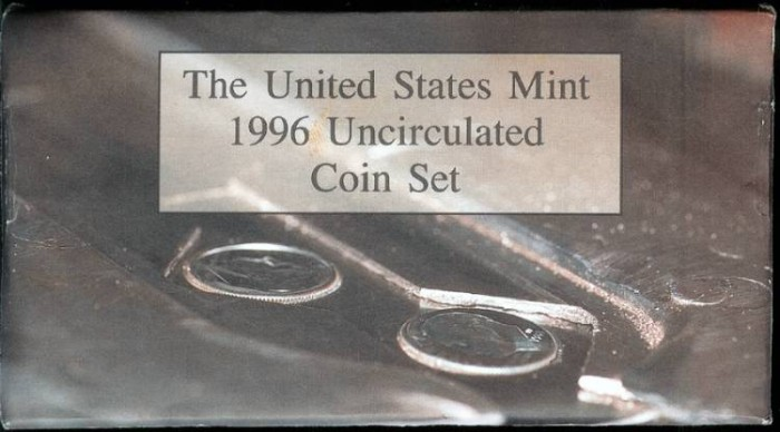 US Coins - 1996 US Mint Set