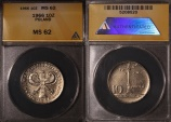 World Coins - 1966 Poland 10 Zlotych - 200th Anniversary of Warsaw Mint - ANACS MS62